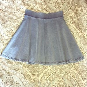 Flare denim skirt